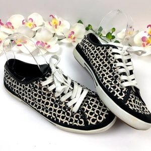 Coach Edith Sneakers Black and White  Size 7 1/2